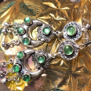 Silver and green mystic topaz earrings